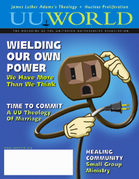 Cover, January/Februaryber UU World