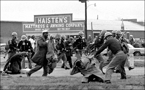 violent police assault on civil rights marchers in Selma, Alabama, in 1965 (AP Photo)