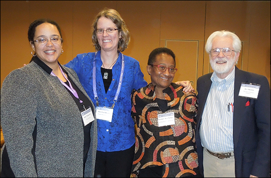 The Rev. Sofia Betancourt, the Rev. Sheri Prud'homme, the Rev. Rosemary Bray McNatt, and the Rev. Dr. Jay Atkinson at a Liberal Theologies Group session at the American Academy of Religion conference.